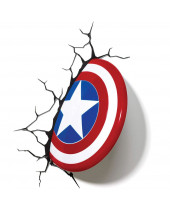 Marvel 3D LED lampa Captain America Shield