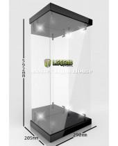 Master Light House Acrylic Display Case with Lighting pre 1/4 akčné figúrky (black)