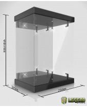 Master Light House Acrylic Display Case with Lighting pre 1/6 akčné figúrky (black)