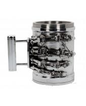 Terminator 2 pivný pohár T-800 Hand 17 cm
