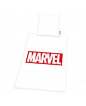 Marvel Comics posteľné obliečky Logo White 135 x 200 cm / 80 x 80 cm