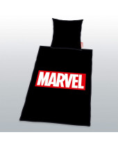 Marvel Comics posteľné obliečky Logo Black 135 x 200 cm / 80 x 80 cm