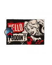 DC Comics Harley Quinn rohožka Hello Puddin 40 x 60 cm