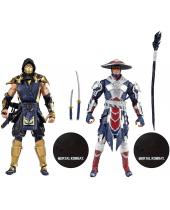Mortal Kombat akčné figúrky Scorpion and Raiden 18 cm