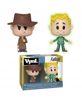 Fallout VYNL - Vinyl Figures 2 pack Mysterious Stranger and Adamantium Skeleton (Glow in the Dark) 10 cm