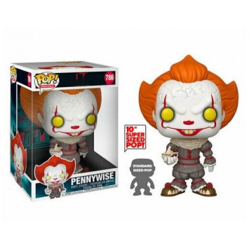 Pop! Movies - It - Pennywise with Boat (Super Sized, 25 cm)