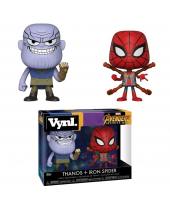 Avengers Infinity War VYNL - Vinyl Figures 2 pack Thanos and Iron Spider 10 cm