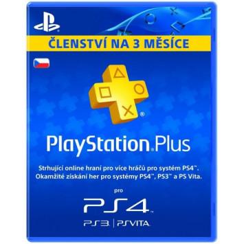 SONY PlayStation Plus Card 90 Day CZE