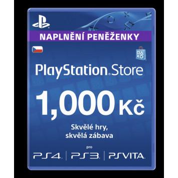 PlayStation Network Card (PSN Karta) 1000 Kč
