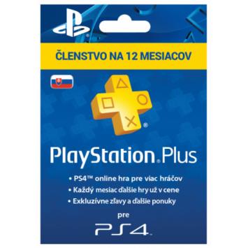 SONY PlayStation Plus Card 365 dní SK