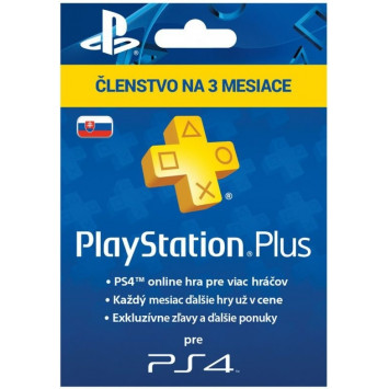 SONY PlayStation Plus Card 90 dní SK (krabicová verzia)