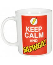 Big Bang Theory hrnček Keep Calm and Bazinga