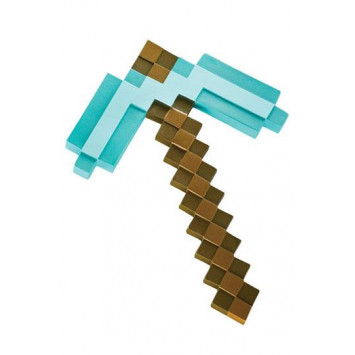 Minecraft Plastic Replica Diamond Pickaxe 40 cm