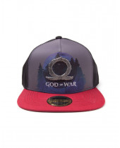 God Of War - Sublimation Print Metal Badge Snapback Cap Logo