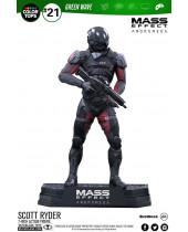 Mass Effect Andromeda Color Tops Action Figure Scott Ryder 18 cm