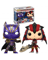 Pop! Games - Marvel vs. Capcom Infinite - 2-Pack Black Panther vs Monster Hunter