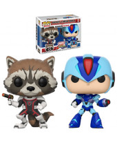 Pop! Games - Marvel vs. Capcom Infinite - 2-Pack Rocket vs. Mega Man X