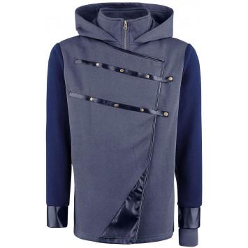Dishonored 2 Hoodie - Corvo Hooded Zip Dark Blue