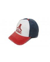 Atari - Red Logo Distressed Baseball Cap - Multicolor
