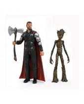 Avengers Infinity War Marvel Select akčné figúrky Thor a Groot 18 cm