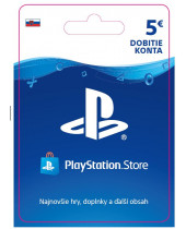 PlayStation Network Karta 5€ pre Slovenský PSN účet (digitálny produkt)