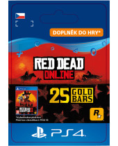 Red Dead Online - 25 Gold Bars (CZ PSN) (digitálny produkt)