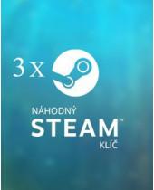 3x Náhodný steam kľúč
