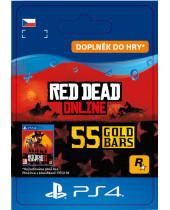 Red Dead Online - 55 Gold Bars (CZ PSN) (digitálny produkt)